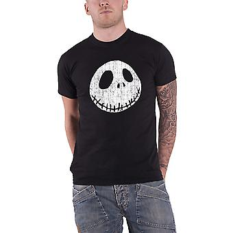 The Nightmare Before Christmas T Shirt Jack Cracked Face new Official Mens Black