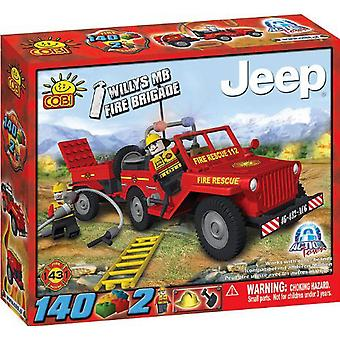 Action Town 140 Piece Willys MB Jeep Fire Brigade Set