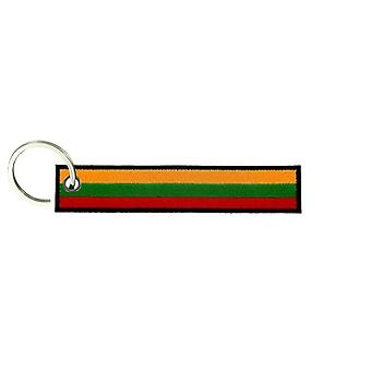 Cle Cles Key Brode Patch Ecusson Flag Brassard Lithuania Lithuanian