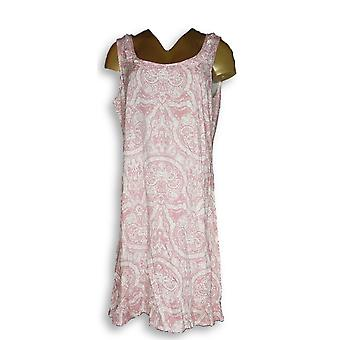 Natural Impressions Dress Printed Sleeveless Pink