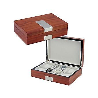 31MADISON Elegant Rosewood 8 Slot Watch Box