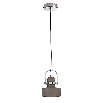 Betong hängande lampa Pavonis mörkgrå dia. 140mm E27 25W