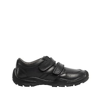 Roamers Boys Twin Touch Fastening Leather Shoe With Toe Guard