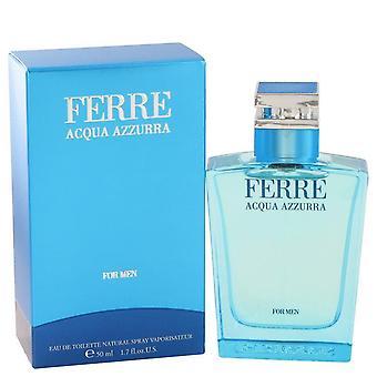 Ferre acqua azzurra eau de toilette spray by gianfranco ferre 467833 50 ml