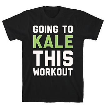 Going to kale this workout white print t-shirt