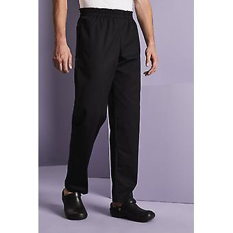 SIMON JERSEY Comfort Fit Chef's Trousers, Black