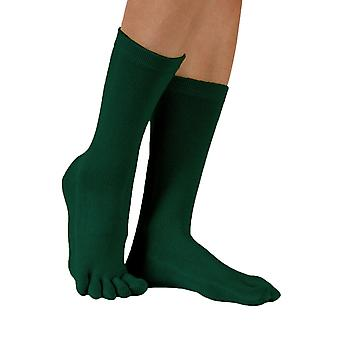 TOETOE Essential Everyday Unisex Mid-Calf Plain Cotton Toe Socks