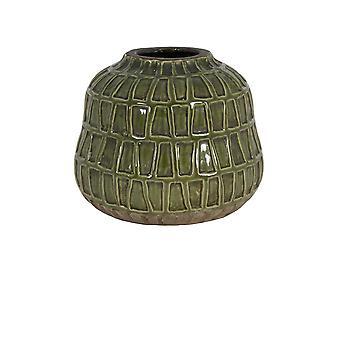 ضوء والمعيشة زهرية ديكو 25x21.5cm منزو السيراميك الأخضر