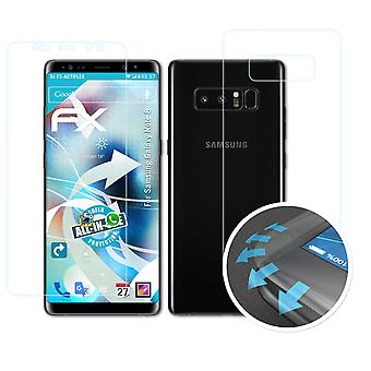 atFoliX 3x Écran protecteur compatible avec Samsung Galaxy Note 8 Protecteur d'écran clair&flexible