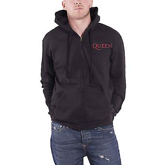 Queen Hoodie Classic Crest Band Logo Back Print new Official Mens Black Zipped