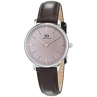 Dansk Design damer kvarts analog klokke med skinn stropp nr: IV18Q1175