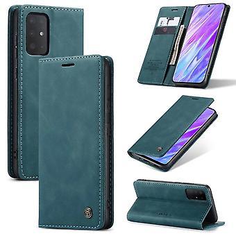 Retro Wallet Slim voor Samsung S20 Blauw