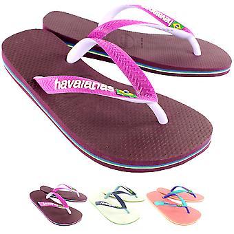 Naisten Havaianas Brasilia Mix Slip Flip Flop Summer Beach Sandal