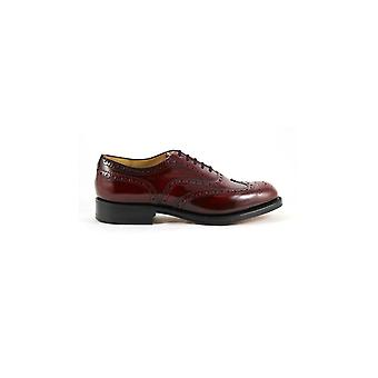 CHURCH'S BURWOOD BURGUNDY FUMÉ LACE UP