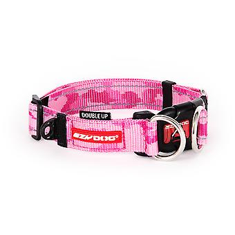 Ezydog Collar Doubleup Pink Camu (Dogs , Collars, Leads and Harnesses , Collars)
