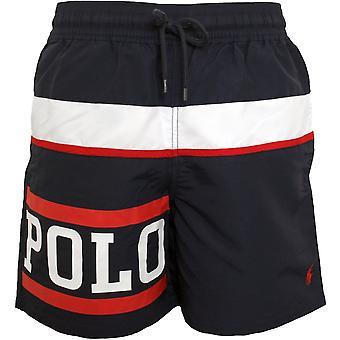 Polo Ralph Lauren Nautical Polo Logo Traveller Swim Shorts, Navy