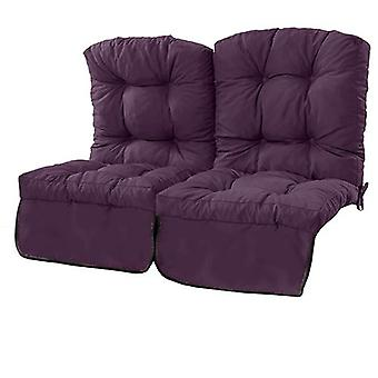 Gardenista® Water Resistant Purple Tufted 2 Seater Swing Seat Kissen