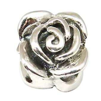 TOC BEADZ 925 Silver Rose 10mm Slide-On Off Bead