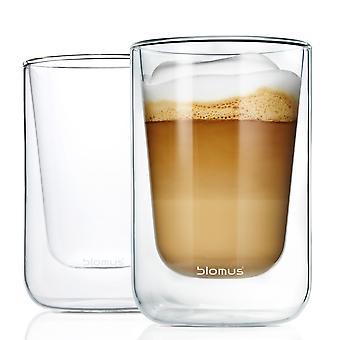 Blomus Thermo glasses cappuccino glass cup NERO 2-piece set