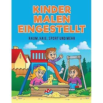 Kinder Malen eingestellt Raum Haie Sport und mehr by Kids & Coloring Pages for