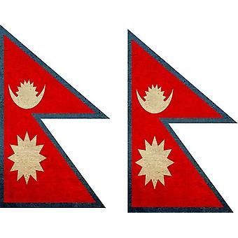 2x عصا ملصقا العلم خمر الذين تتراوح أعمارهم بين NEP نيبال