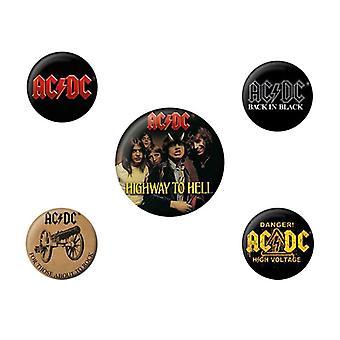 AC/DC, 5x Pins