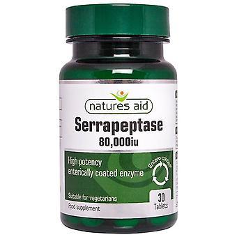 Nature's Aid Serrapeptase 80;000iu (Entero-Coated) Tablets 30 (130710)