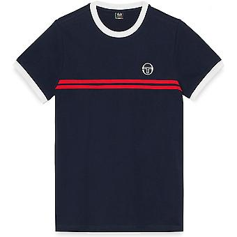 Sergio Tacchini Supermac 3 T-Shirt Navy/Red 85