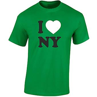 I Love NY New York Heren T-Shirt 10 kleuren (S-3XL) door swagwear