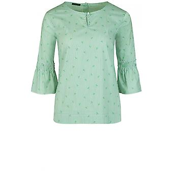 Bianca Green Striped Blouse