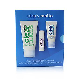 Clearly Matte Kit: Breakout Clearing Foaming Wash 75ml+ Breakout Clearing Booster 10ml+ Clearing Defense Spf30 15ml 3pcs