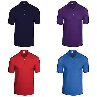 Gildan DryBlend Childrens unisex Jersey Polo shirt (Pack de 2)