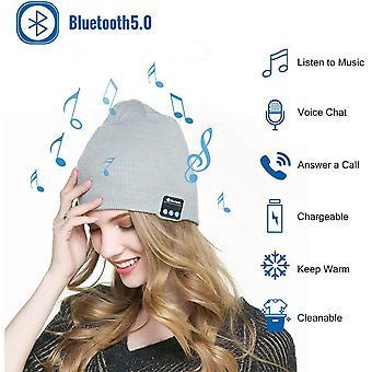 Energizer Hardcase H570S (Light Grey) Bluetooth Beanie Music Hat Stereo Speaker Microphone