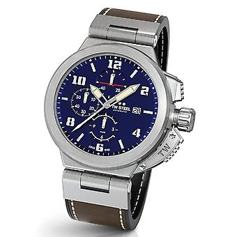 TW Steel ACE203 Spitfire Swiss Made automatisch chronograaf heren horloge 46 mm