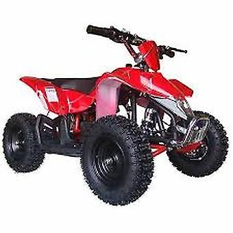 MotoTec 24V Mini Quad V3 Battery-Powered Ride-On, Red