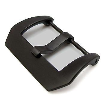 Strapcode watch buckle 26mm pre-v style screw in buckle ipt titanium black plating