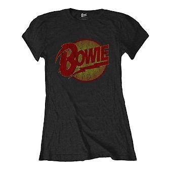 Women's David Bowie Diamond Dogs Logo Camiseta En apuros