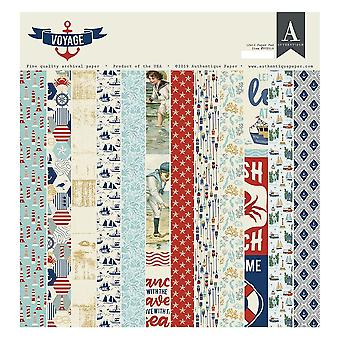 Authentique Voyage 12x12 Inch Paper Pad