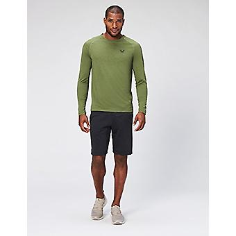 Peak Velocity Men's VXE Long Sleeve Quick-dry Loose-Fit T-Shirt, Stealth Gree...