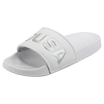 DC Shoes Slide Se Womens Slide Sandals in White Silver