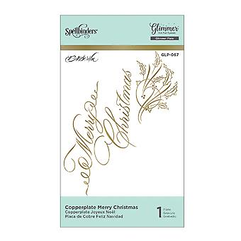 Spellbinders Copperplate Merry Christmas Hot Foil Plaque