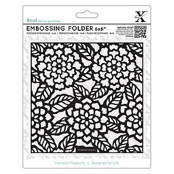 Xcut 6x6 Inch Embossing Folder Chrysanthemums