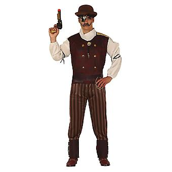 Mens Steampunk Fancy Dress Costume Time Traveller
