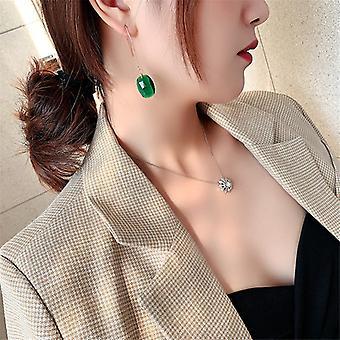 Zöld Crystal Drop fülbevaló