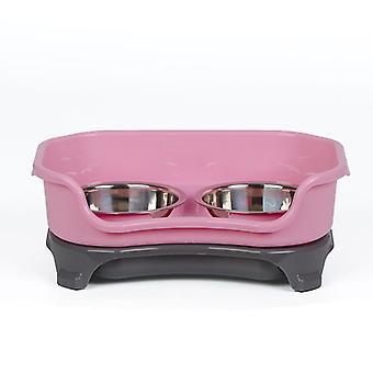 Dog bowl cat bowl pet cat double basin splash-proof bowl