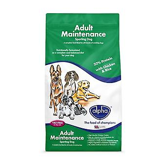 Alpha Adult Maintenance Sporting Dog Food - Poulet - 15kg