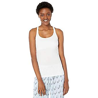 Marca - Mae Women's Cotton Modal Lounge Tank, Blanco, Grande