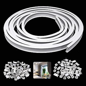 Flexible Ceiling Mounted Adjustable Curtain Track Rail 5m