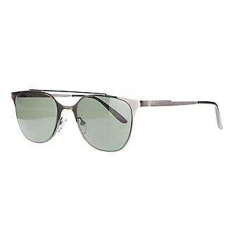 Solbriller Unisex Cat.3 sølv grønn (AMU19204 A)