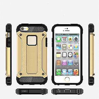 Shell for Apple iPhone 7 Plus 7+ Hard Armor Protection Gold TPU Case